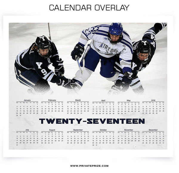 2017 Signature Calendar Overlays - Photography Photoshop Templates