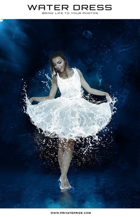 Water Dress Brush - Gardenia - Photography Photoshop Templates