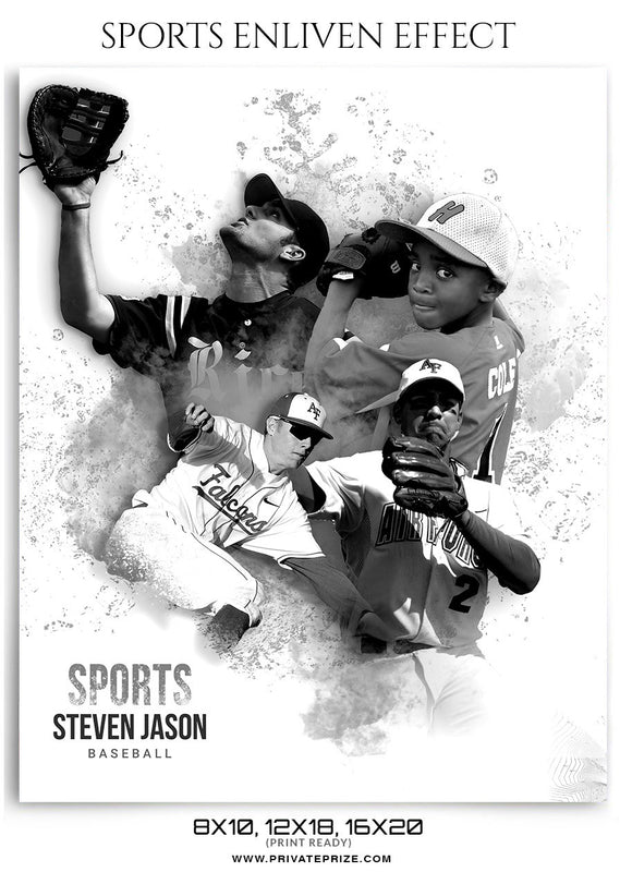 Baseball- Enliven Effects - Photography Photoshop Template