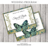 Steve and Paula Wedding Program - Photography Photoshop Templates