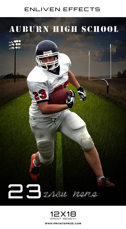Auburn High School Sports - Enliven Effects - Photography Photoshop Template