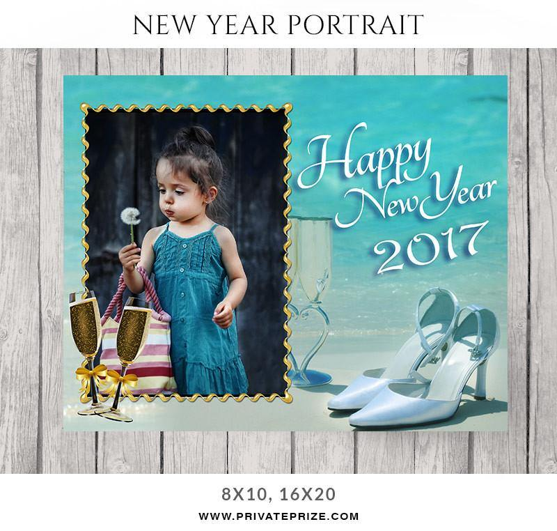 A Lil Prayer- New Year Portrait - Photography Photoshop Templates