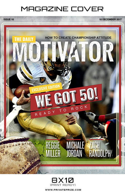 The Daily Motivator  - Sports Photography-Magazine Cover - Photography Photoshop Templates