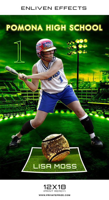 Pomona High School Sports - Enliven Effects - Photography Photoshop Template