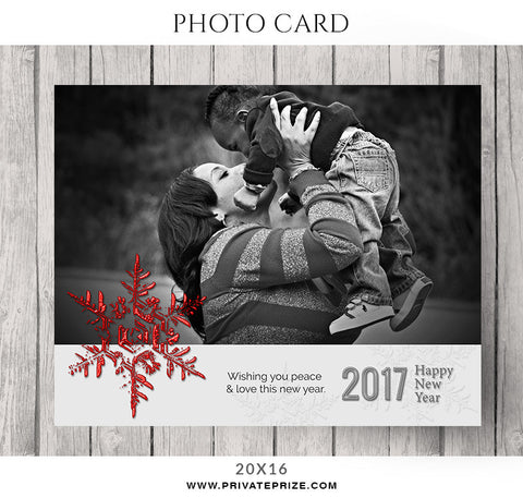 Affection Christmas-Photocard - Photography Photoshop Templates