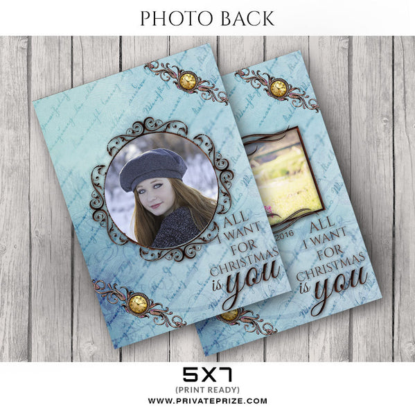 All I want-Photocard - Photography Photoshop Templates