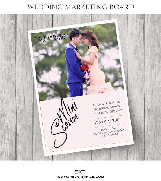 Couple Wedding Marketing Photography Board - Photography Photoshop Templates