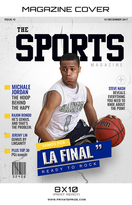 The Sports  - Sports Photography- Basketball Magazine Cover - Photography Photoshop Template