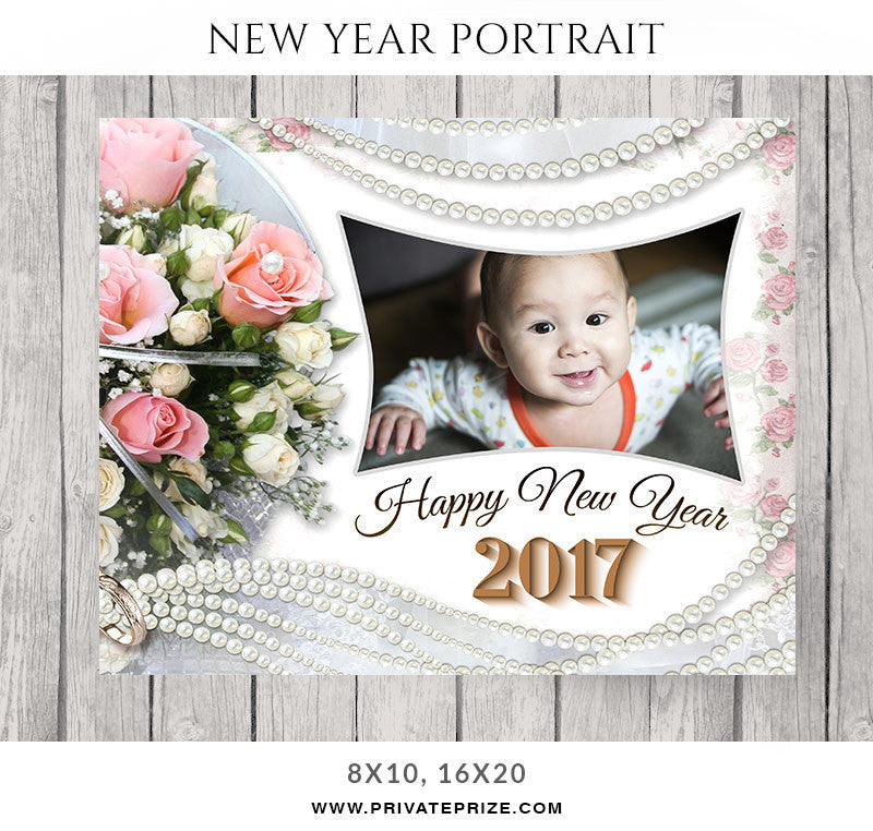 Sweet Wish New Year Portrait - Photography Photoshop Templates