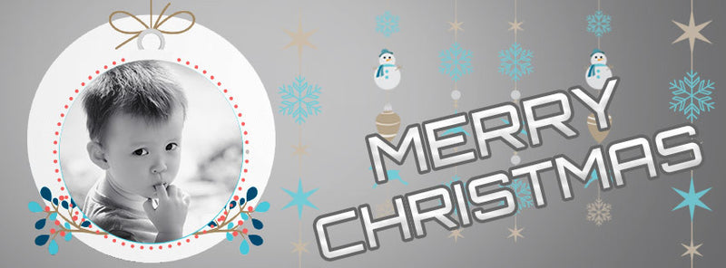 Christmas Ornaments Facebook Timeline Cover - Photography Photoshop Templates