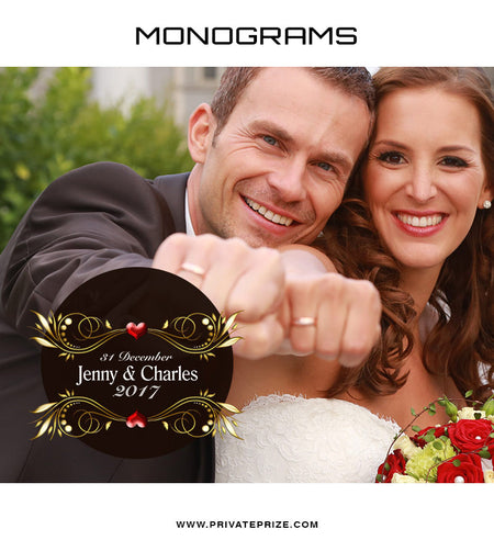 Jenny&Charles Love Monogram - Photography Photoshop Template