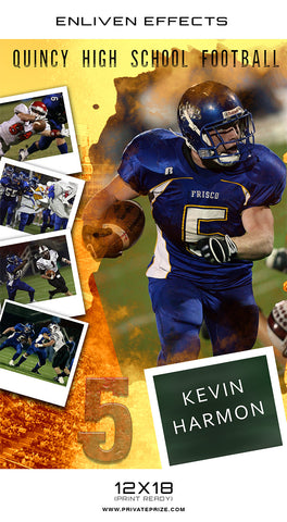 Quincy High School Sports - Enliven Effects - Photography Photoshop Templates