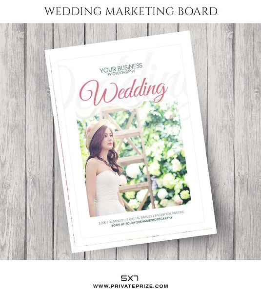 Pink Wedding Marketing Photography Board - Photography Photoshop Templates