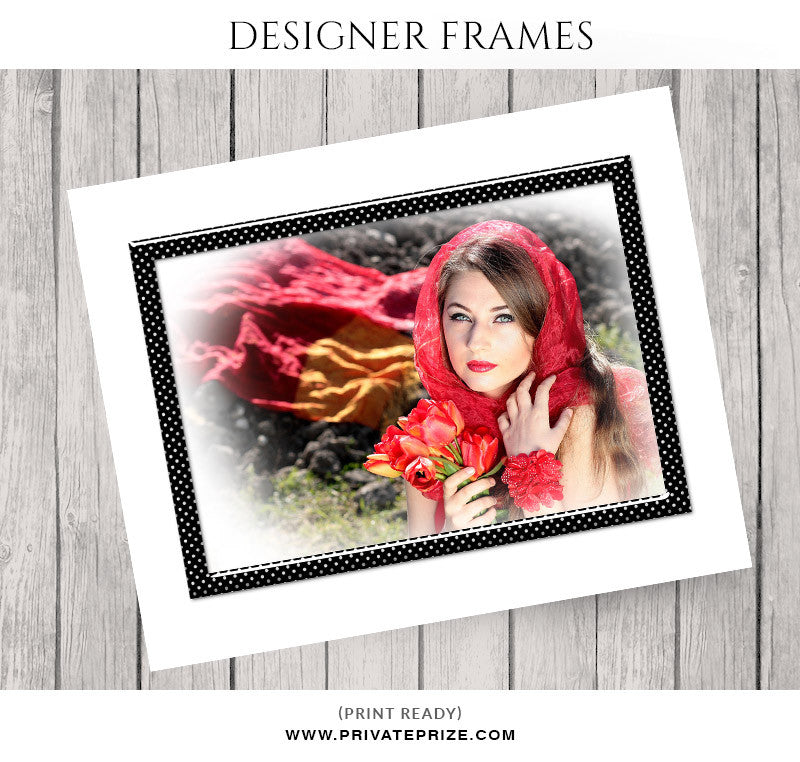 Polka Dots Frame - Embellish Overlay - Photography Photoshop Templates