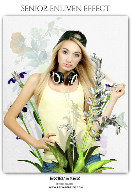 BLOSSOM - SENIOR ENLIVEN EFFECT - Photography Photoshop Template