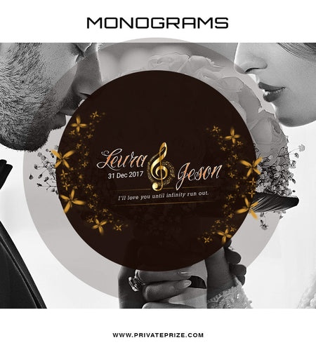 Leura&Jeson Love Monogram - Photography Photoshop Template