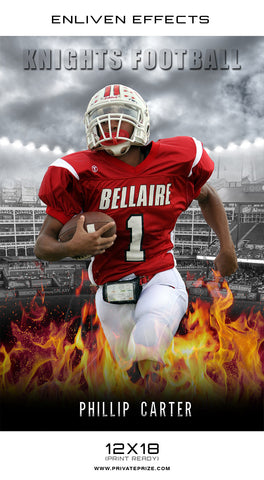 Knights High School Sports - Enliven Effects - Photography Photoshop Templates