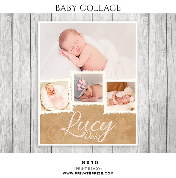 Baby Collage Set - Lucy Dale - Photography Photoshop Templates