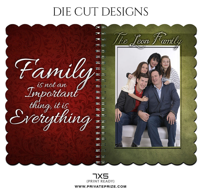 LOVE FOR FAMILY - DIE CUT DESIGN - Photography Photoshop Template
