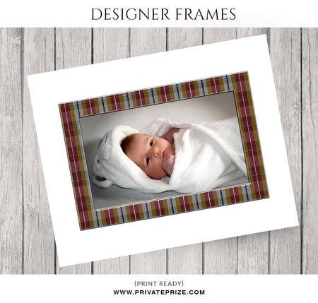 Checks Frame - Embellish Overlay - Photography Photoshop Template