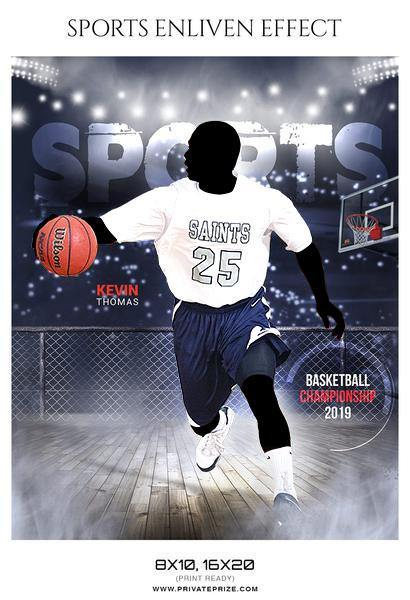 Kevin Thomas - Basketball Sports Enliven Effects Photography Template