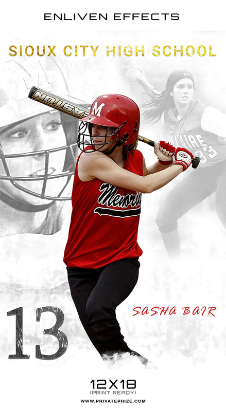 Sioux High School Sports - Enliven Effects - Photography Photoshop Template