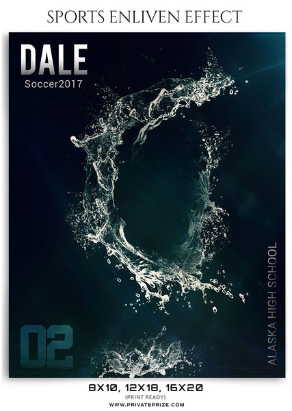 Dale-Soccer 2017- Sports Photography-Enliven Effects - Photography Photoshop Template