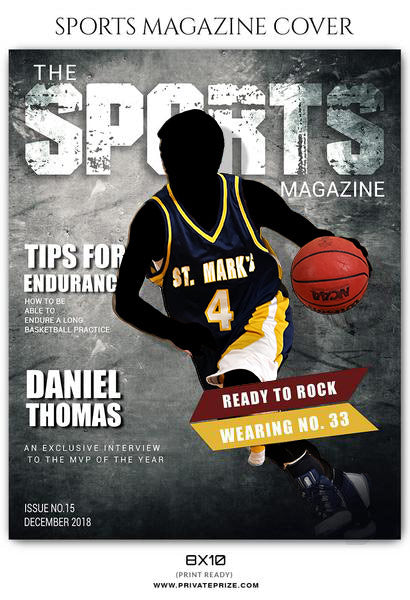 Daniel Thomas - Basketball Sports Photography Magazine Cover