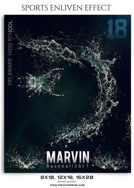 Marvin- Baseball 2017- Sports Photography-Enliven Effects - Photography Photoshop Template