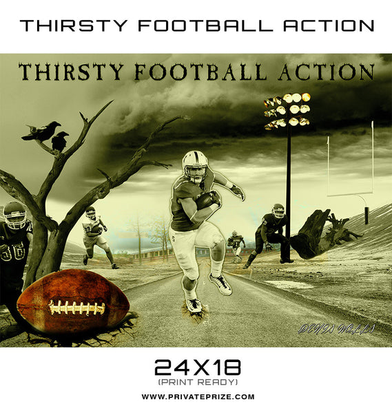 Thirsty For Action- Themed Sports Template - Photography Photoshop Templates