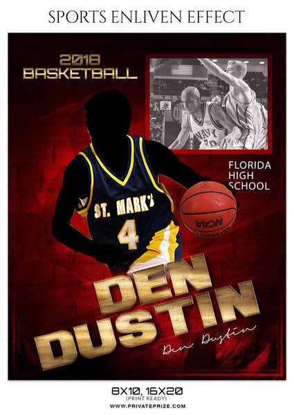 DEN DUSTIN BASKETBALL SPORTS MEMORY MATE