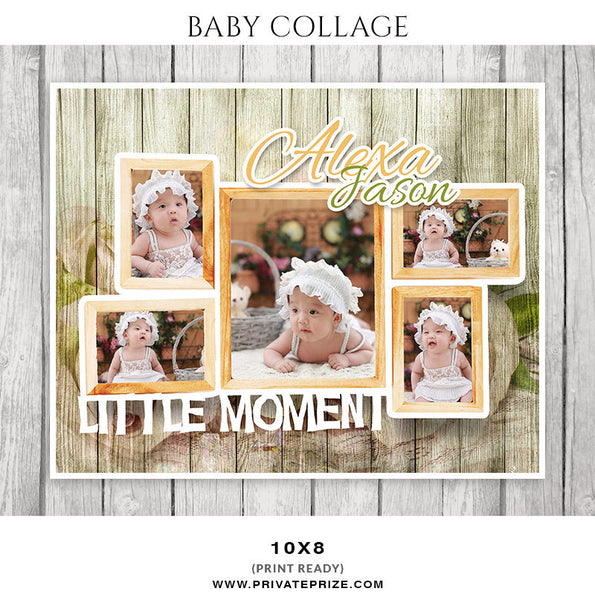 Baby Collage Set - Alexa Jason - Photography Photoshop Templates