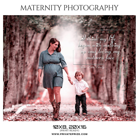 The Leon Family - Maternity Photography Template - Photography Photoshop Template