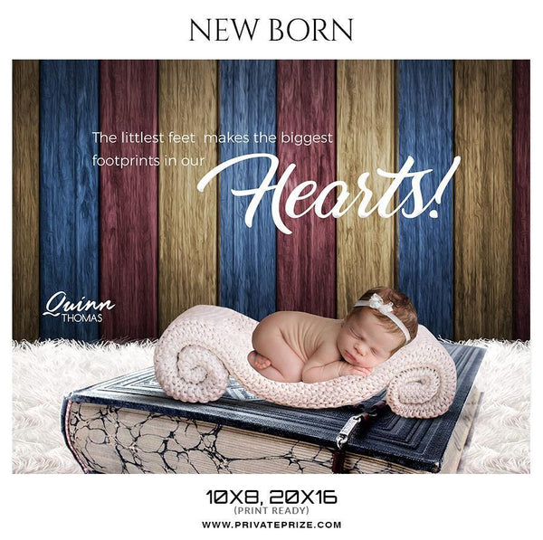 Quinn Thomas - New Born Photography Photoshop Templates - Photography Photoshop Template