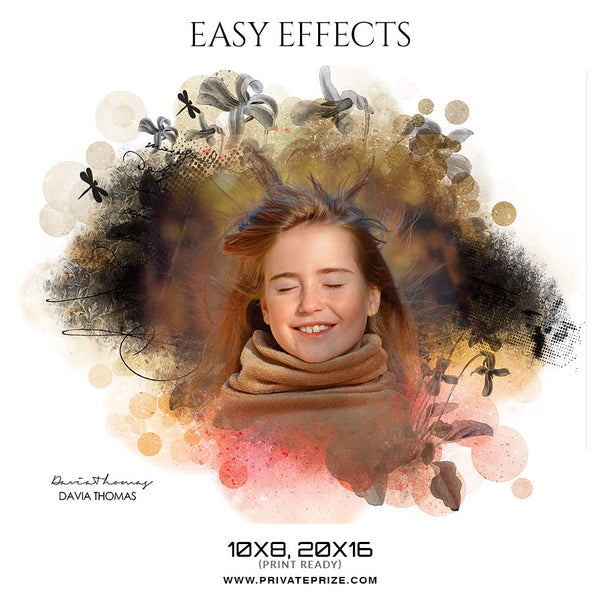 Davia Thomas -Seniors Easy Effects - Photography Photoshop Template