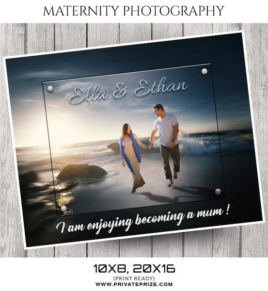 ELLA AND ETHAN - MATERNITY PHOTOGRAPHY - Photography Photoshop Template