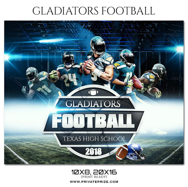 GLADIATORS - FOOTBALL  Themed Sports Photography Template