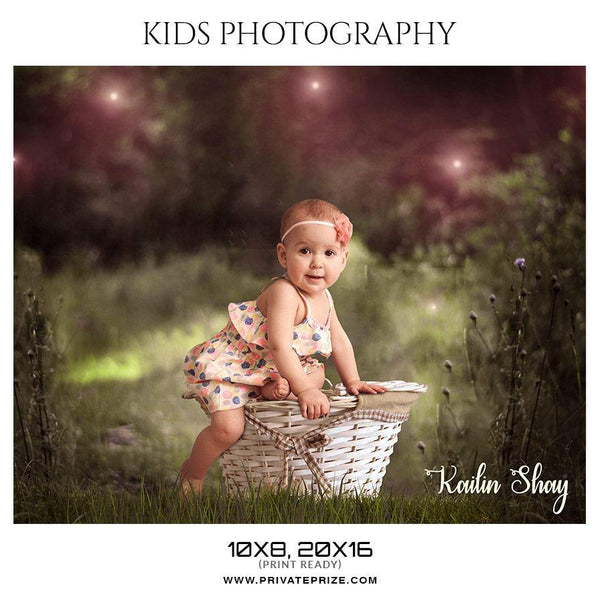 Kailin Shay - Kids Photography Photoshop Template - Photography Photoshop Template