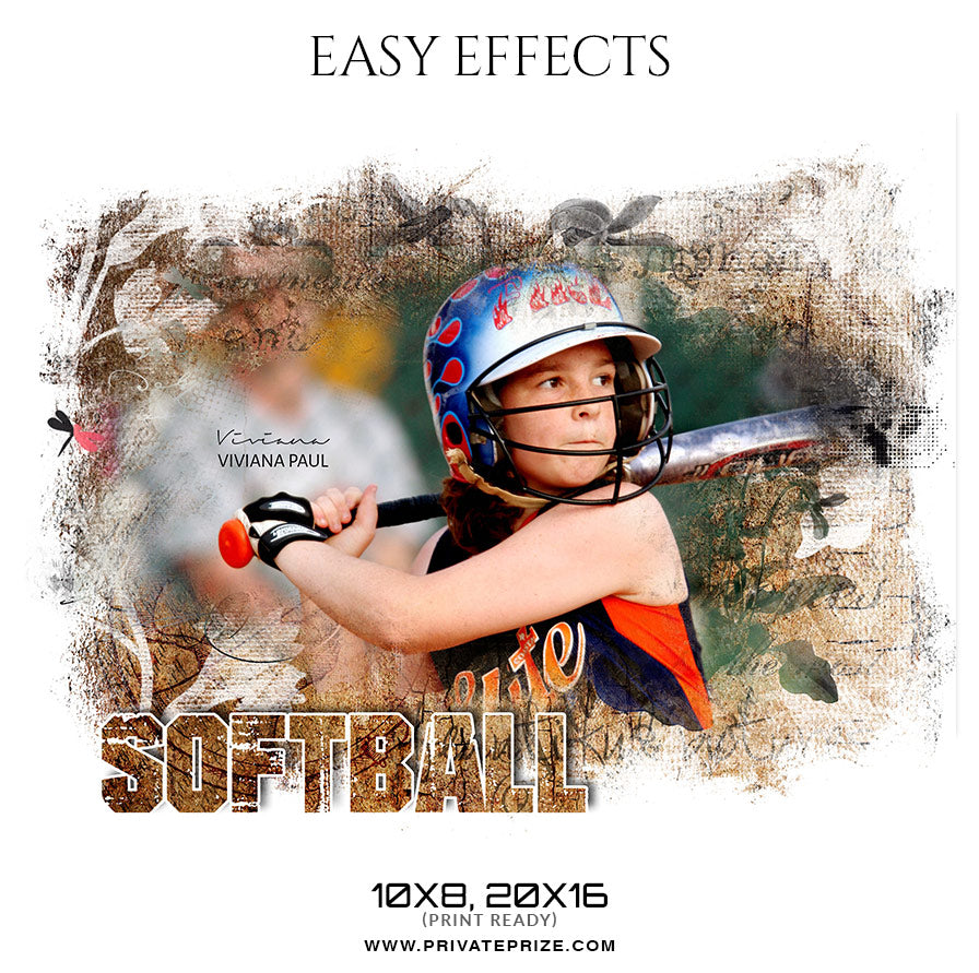 Viviana Paul - Softball - Easy Effect Sports Photography Template