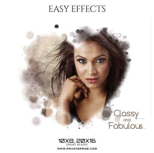 Classy and Fabulous - Easy Effects - Photography Photoshop Template