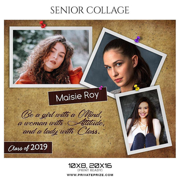 Maisie Roy - Senior Collage Photography Template - Photography Photoshop Template