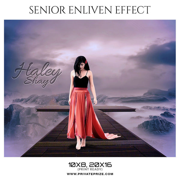 HALEY SHAY- SENIOR ENLIVEN EFFECT - Photography Photoshop Template