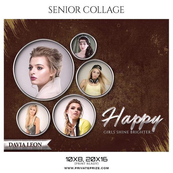 Davia Leon - Senior Collage Photography Template - Photography Photoshop Template
