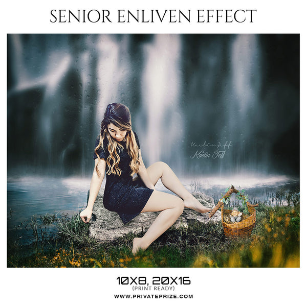 Kaelin Jeff  - Senior Enliven Effect Photography Template - Photography Photoshop Template