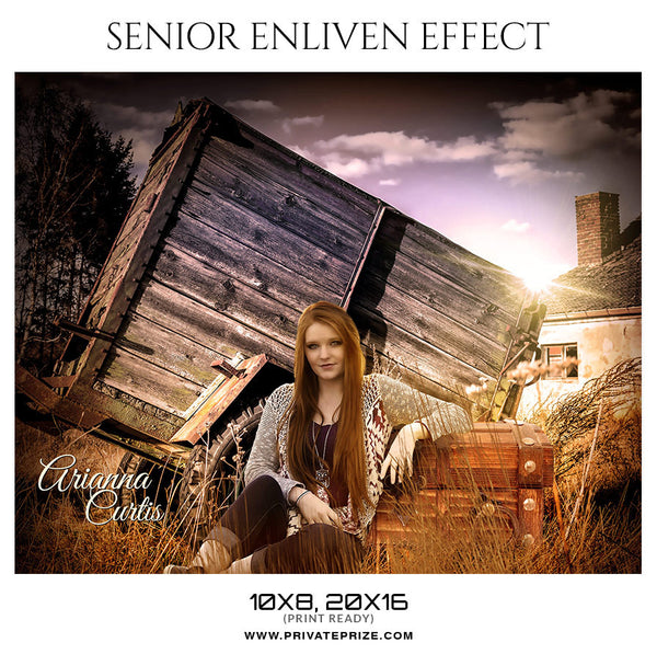 ARIANNA CURTIS - SENIOR ENLIVEN EFFECT - Photography Photoshop Template