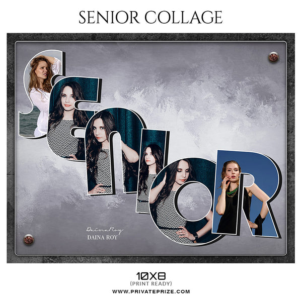 Daina Roy  - Senior Collage Photography Template - Photography Photoshop Template