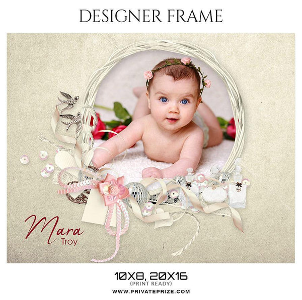 Mara troy - Kid's Designer Frame Templates - Photography Photoshop Template