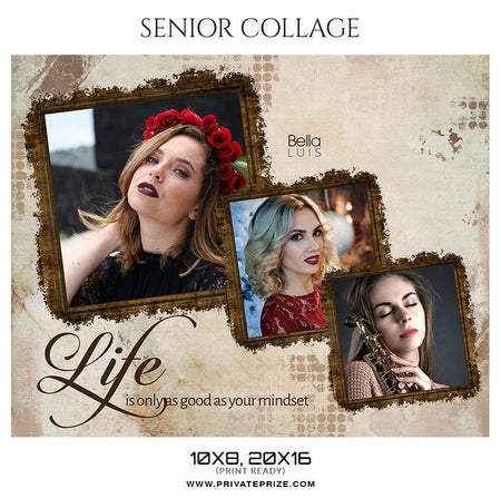 Bella luis - Senior Collage Photography Template - Photography Photoshop Template