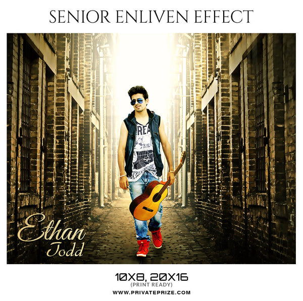 ETHAN TODD - SENIOR ENLIVEN EFFECT - Photography Photoshop Template