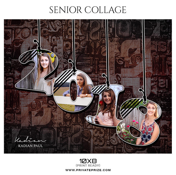 Kadian Paul - Senior Collage Photography Template - Photography Photoshop Template